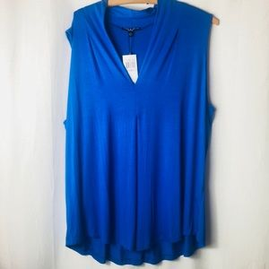 Cable & Gauge Sleeveless Top Size 1X NWT